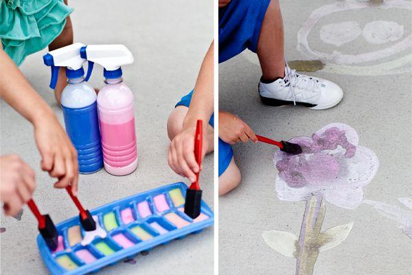 up to fun on pinterest sidewalk chalk sidewalk paint and chalk art. Black Bedroom Furniture Sets. Home Design Ideas