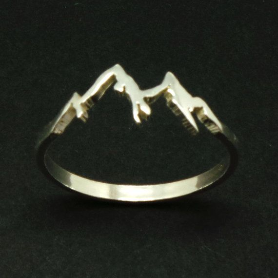 Pinterest: @MagicAndCats ☾ Sterling Silver Mountain Range Ring Hope Ring Dream by yhtanaff
