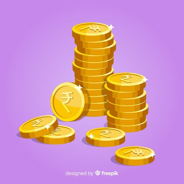 Indian Rupee Coins Falling Background Vector Animation Rupees Vector Free