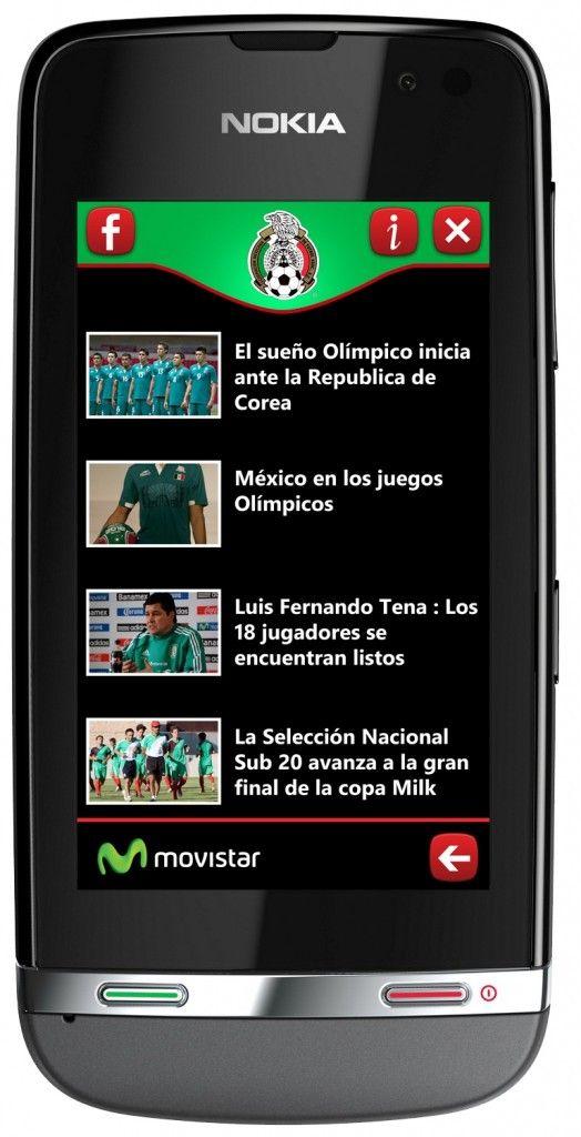 Alianza entre Movistar y Nokia permitirá a clientes comprar apps y cargarlas a su plan o saldo / App Selección Mexicana de Fútbol / Asha 311
