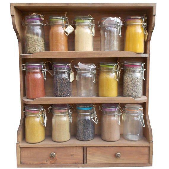 Kitchen Spice Jar Shelf Etagere A Epices