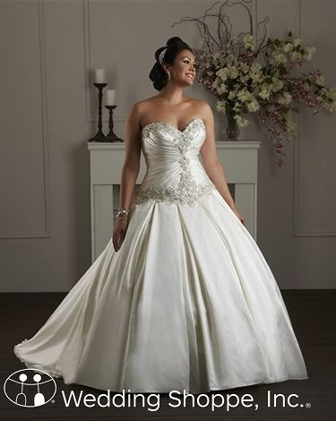 Bonny 1407 We love this stunning plus size wedding dress!