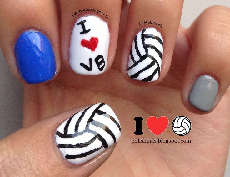 Polish Pals: Volleyball Nails (+ Tutorial)