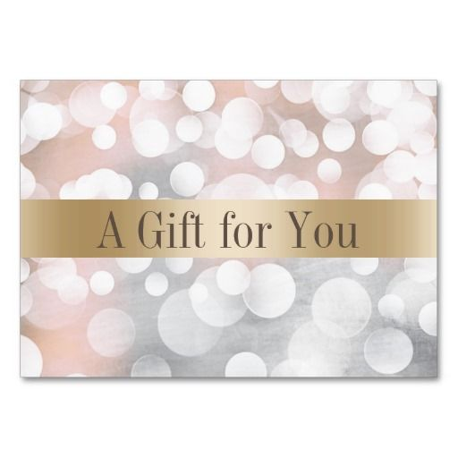 Modern Silver & Gold Salon Spa Gift Certificates Large Business Card