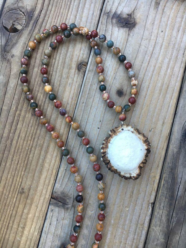 Horn Necklace - Deer Antler Necklace - Antler Jewelry - Antler Jewelry for Her - Boho Antler Necklace - Rustic Antler Necklace