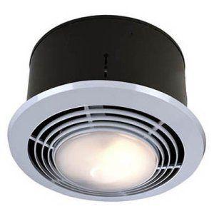 Delightful Broan Nutone 9093WH Bathroom Heat / Fan / Light / Night Light With Switch