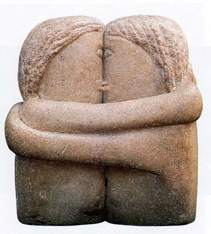 "Konstantin Brancusi's Sculptural Series ""The Kiss      Konstantin Brancusi (1876 – 1957)  Konstantin Brancusi (1876 – 1957)    Sentimental need and sexual desire are fused in creating our fixatio"