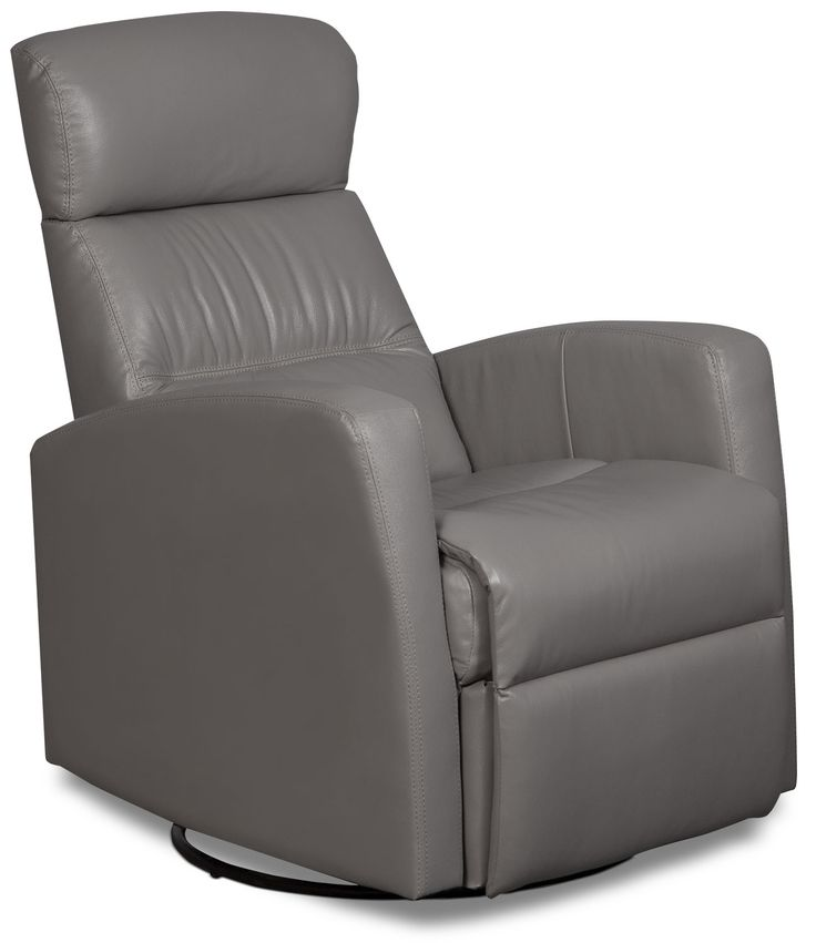 Let your body sink into the coziness of this sleek Penny swivel rocker reclining chair. Genuine leather seating creates an elegant air in your home thanks to the supple feel of this beautiful upholstery. Padded from head to toe with high-density foam, this chair includes a reclining lever to make yourself comfortable. Plus, you can swivel your seat to get the best view of the TV, or use the rocking feature to put the kids (or yourself) to sleep.