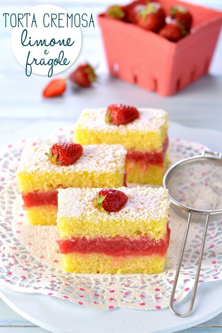 Sprinkles Dress: Torta cremosa limone e fragole