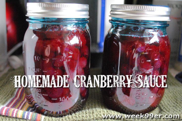 Homemade Cranberry Sauce - Canning Recipe - Gluten Free!