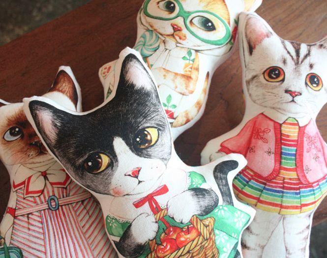 Roly/cat/persian/himalayan/pet/pillow/fabric/princess/dress/cushion/linen