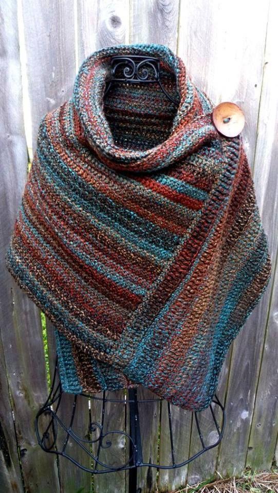 Free Crochet Pattern For Button Wrap : Rechte lap halve stokjes in achterste lus en nadien dwars ...