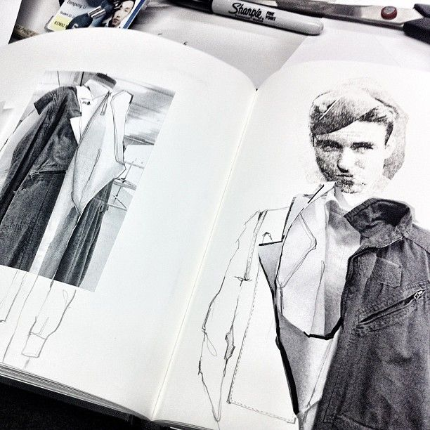 Fashion Sketchbook - fashion illustrations; fashion design process; fashion portfolio // Ximon Lee