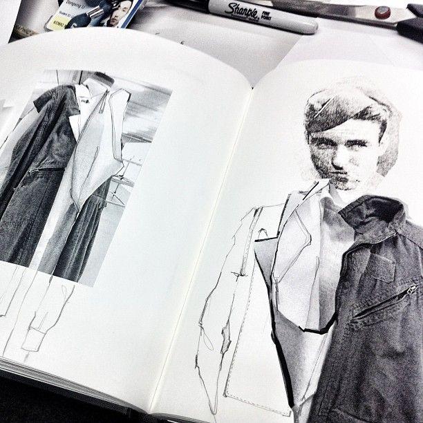 Fashion Sketchbook - fashion illustrations; fashion design process; fashion…