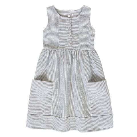 Minouche_Kate dress - cotton seersucker - The Child Hood