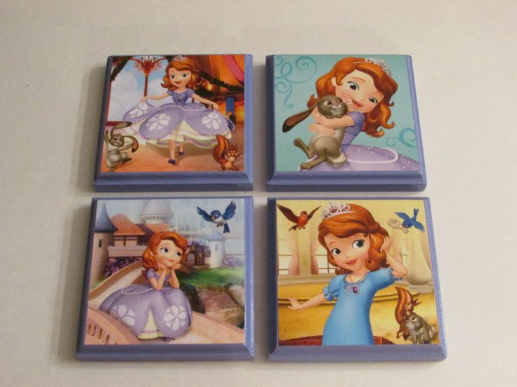Disney Sofia the First Room Wall Plaques - Set of 4 Sofia the First Girls Room Decor - Sofia the First Wall Signs by JustForYou22 on Etsy https://www.etsy.com/listing/209492212/disney-sofia-the-first-room-wall-plaques
