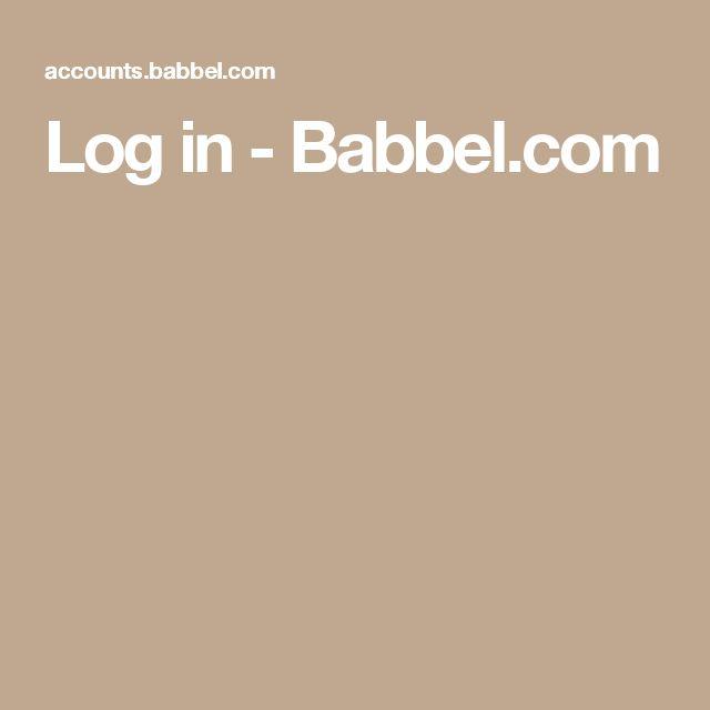 Log in - Babbel.com