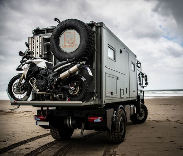 Bliss Mobil is a new concept for expedition vehicles, an innovative container-style all-in-one box, designed to fit all types of truck. Rather than the costly customising of each individual vehicle, the company has introduced five uniformed models to