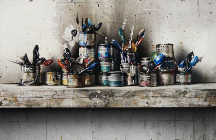 Cesar Galicia - Paint Cans