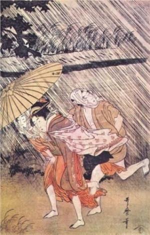 Shower - Kitagawa Utamaro by shirley