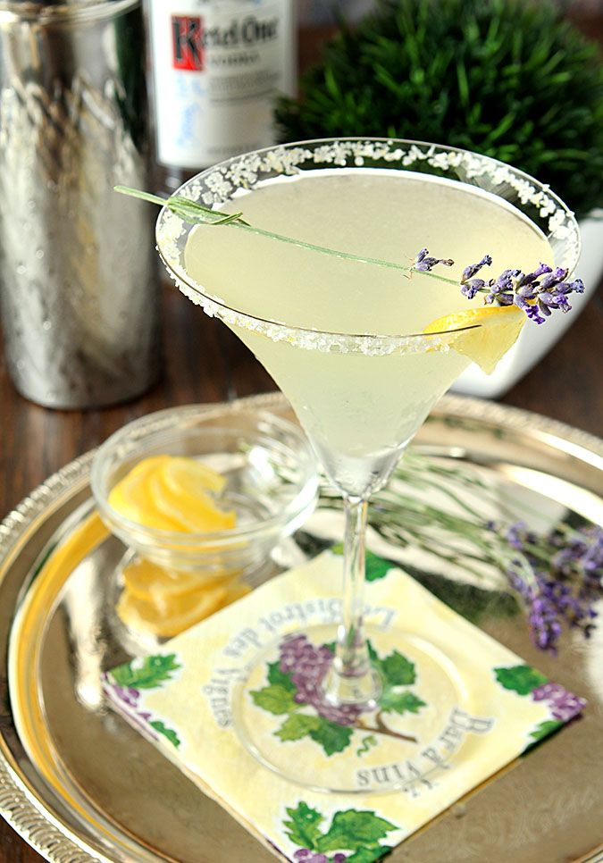 Lavender Lemonade Martini is a great summer cocktail. It's cold, refreshing with just a hint of lavender added to lemonade; a super refreshing cocktail.
