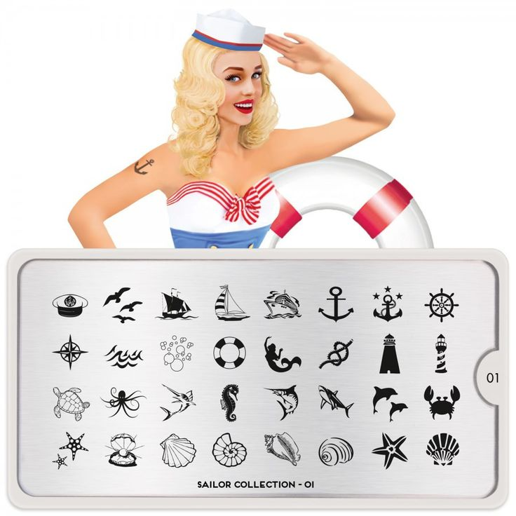 sailor 01 nautical symbols moyou stapming plate