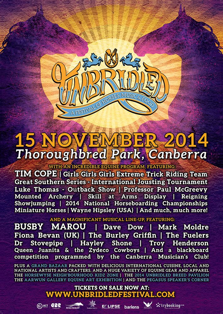 Unbridled Festival 2014 - Poster #3 A2 - by Wren & Rabbit Event Production