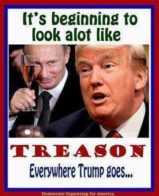 "Thank you! Trump knowing that Russia was helping him (as indicated by his own behavior) is the definition of TREASON. I can't believe people aren't taking it seriously, and his mindless SS are still repeating ""he won, get over it, doesn't matter how he did it."" It's very much does matter. Treason should not only disqualify him from holding any office, but should land him in prison. His brainwashed masses have sold this country to Russia. Each and every one of them shares responsibility for…"
