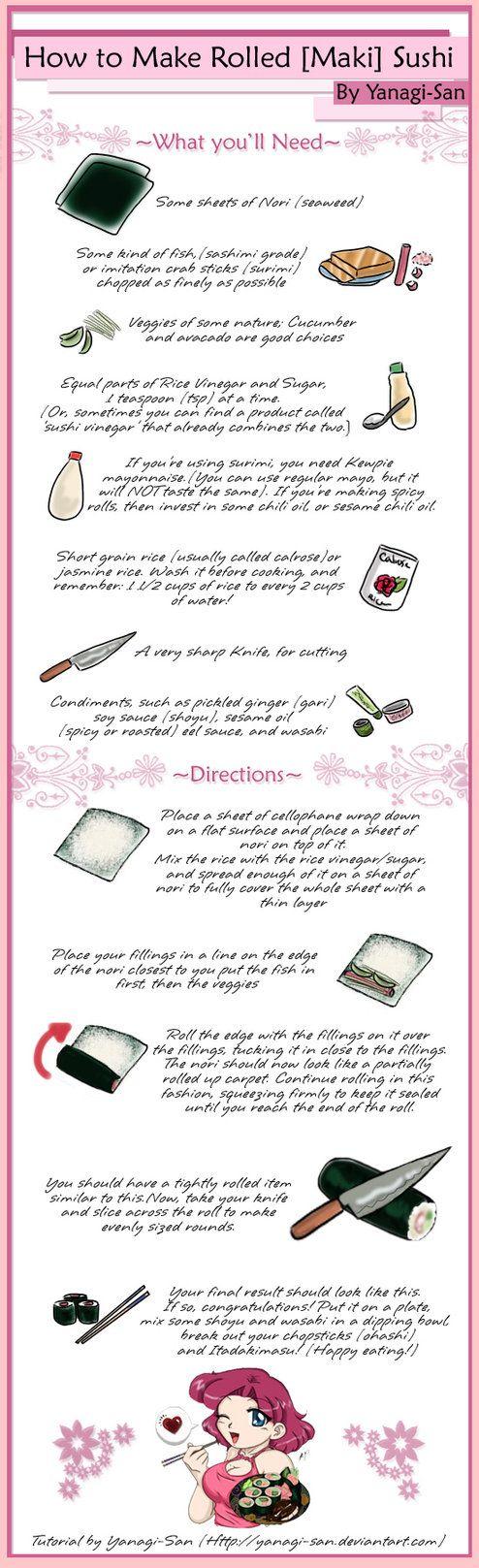 how to make maki sushi rice
