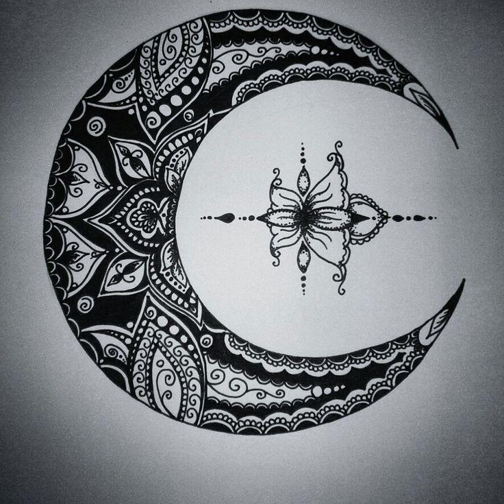 Artwork by Anna Szabo Follow Facebook: AnnArt Instagram: @szabo_anna_k #moon #art #doodle #zendoodle #drawing #mandala