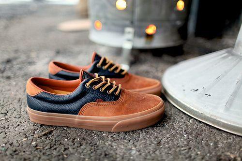 Leather/Suede Vans.