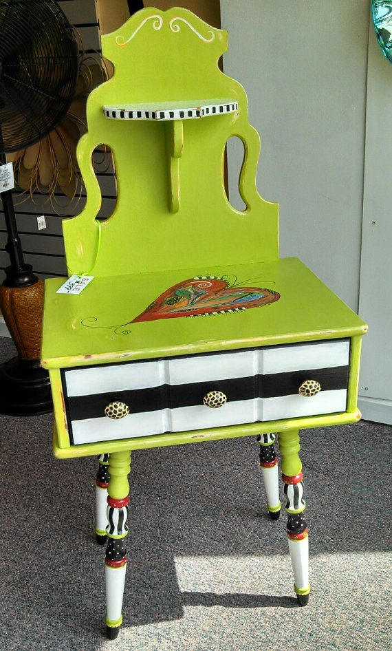 Vintage Accent Table by BrilliantlyFunky on Etsy  (Carolyn's Funky Furniture)