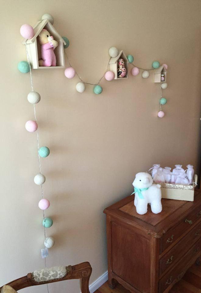La #habitación de la pequeña Isabel #Guirnalda de #Luces DAS INDIAS - ft Cecilia…
