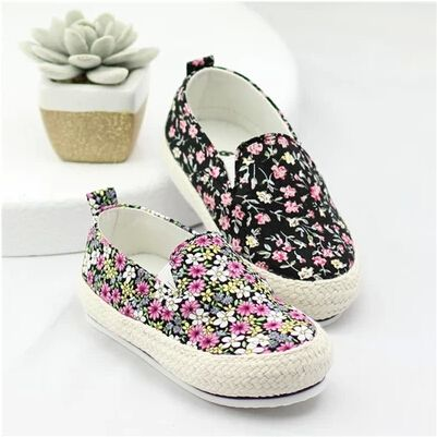 Kid boys and girls models fall 2014 shoes Korean Floral Fan art of small fresh canvas shoes soft bottom baby shoes a pedal $20.99