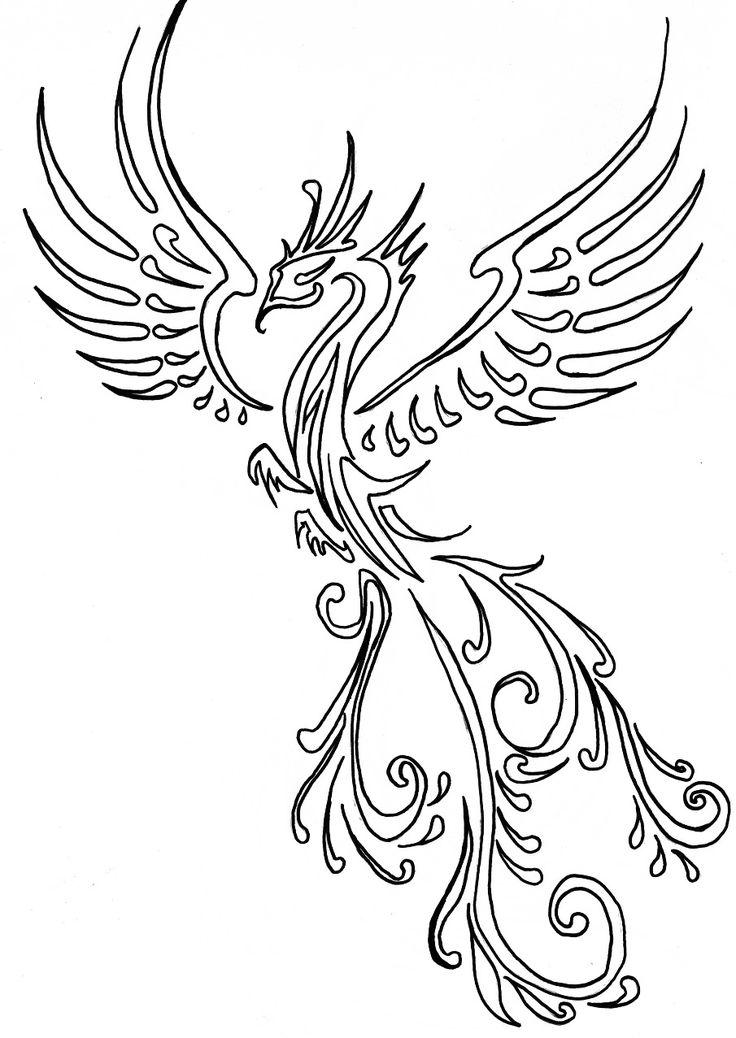 картинка феникс карандашом салат