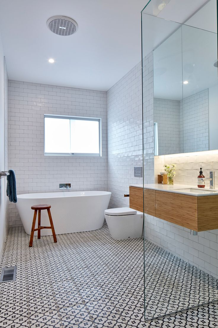Bathroom Sales Melbourne - Timber fins shade asymmetric glazed gable added to melbourne home by warc studio