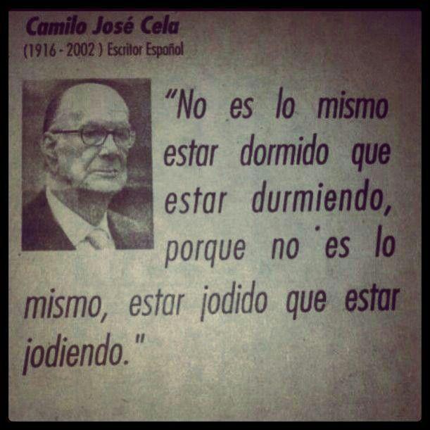 Camilo José Cela, escritor español.