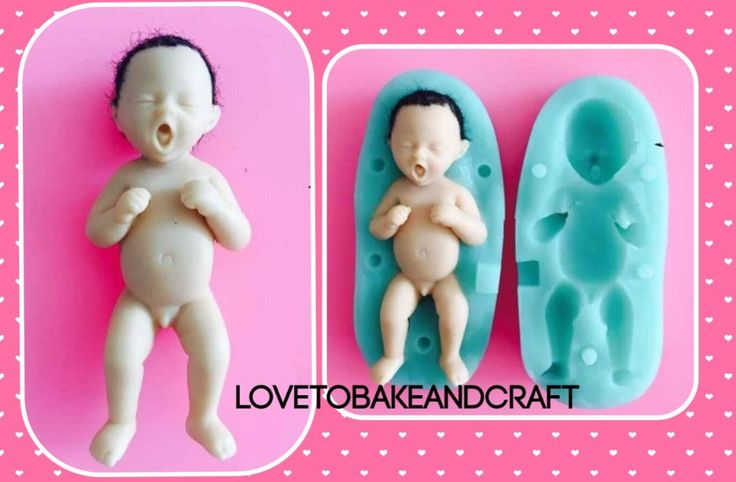 Beautiful silicone 3D double sided baby mold Mold size All sizes are approximate 8 5cm x 5 4cm Baby size 7 2cm x 3 2cm All molds are high quality and