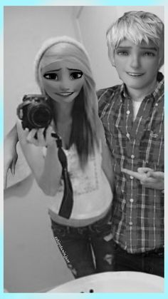 modern jack frost and elsa - Google Search
