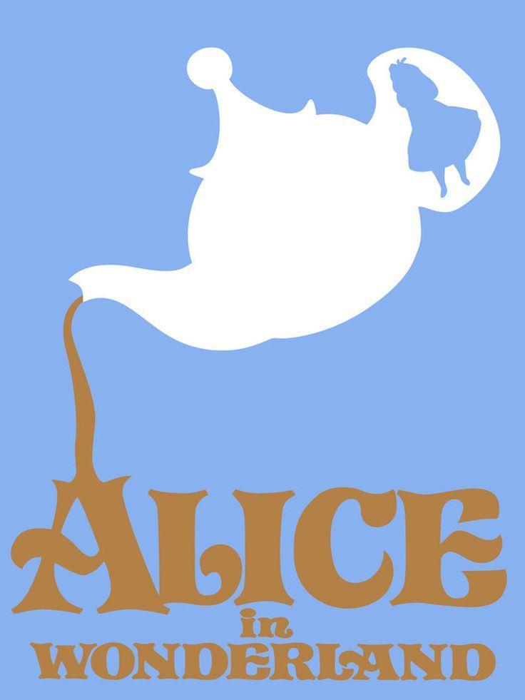 Poster minimaliste de Alice au pays des Merveilles.