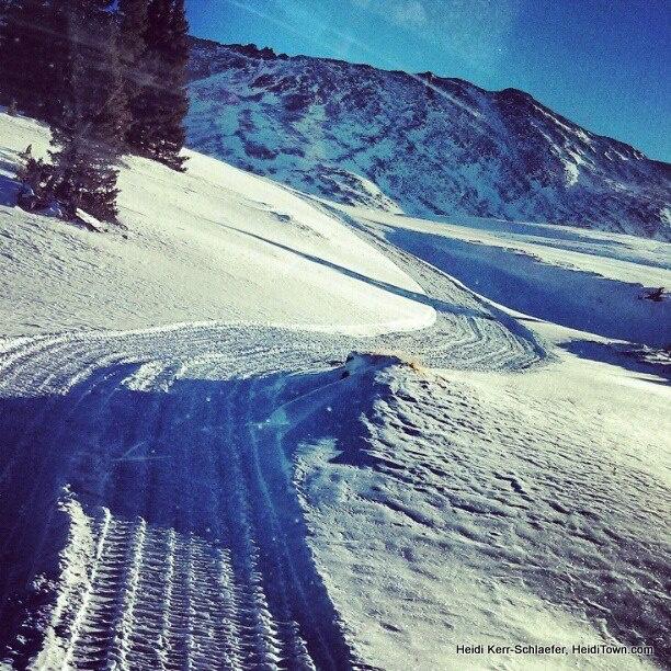 Snow cat tracks at Top of the Rockies Zip Lines. #Colorado Read about my #zipline adventure: http://www.heiditown.com/2013/01/30/ziplining-colorado-top-of-the-rockies/