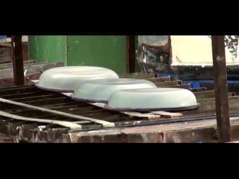 Emalituotteiden valmistus, Muurla - YouTube