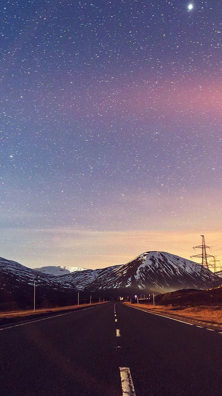 SKY STAR LOVELY ROAD STREET MOUNTAIN WINTER NATURE FLARE WALLPAPER HD IPHONE iPhone X Wallpaper 544724517422366725 11
