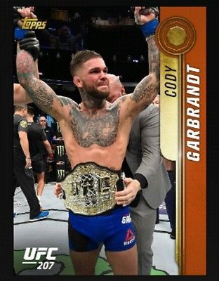UFC Topps Knockout Contest Cody Garbrandt *Digital Card*