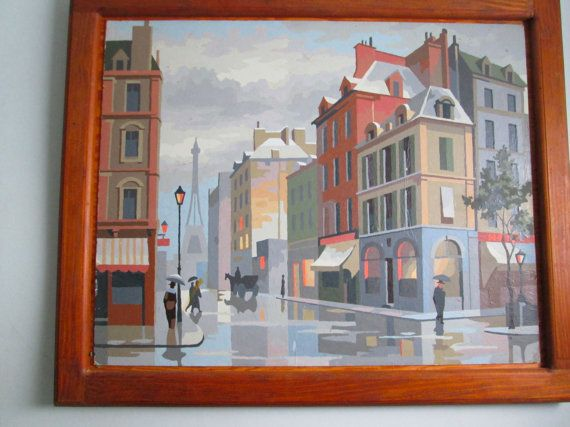 Paris Paint By Number Abstract Modernist Cityscape
