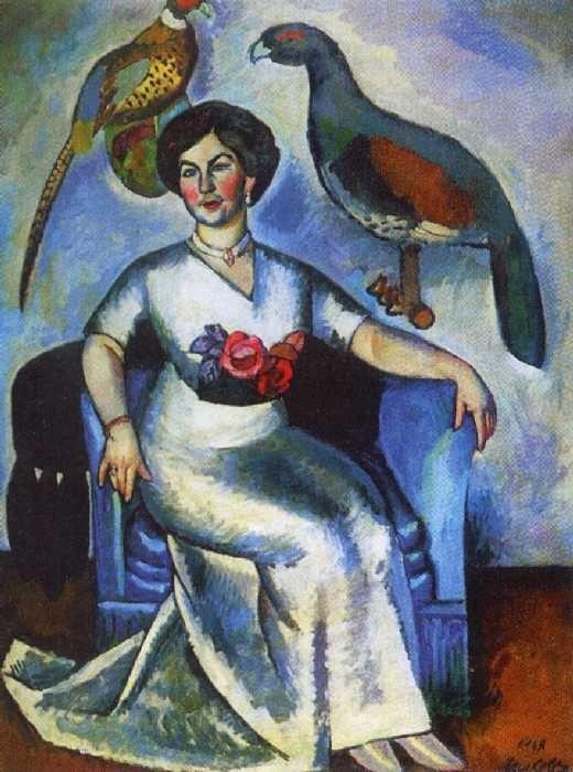 МАШКОВ Илья Иванович Портрет дамы с фазанами. 1911. Масло