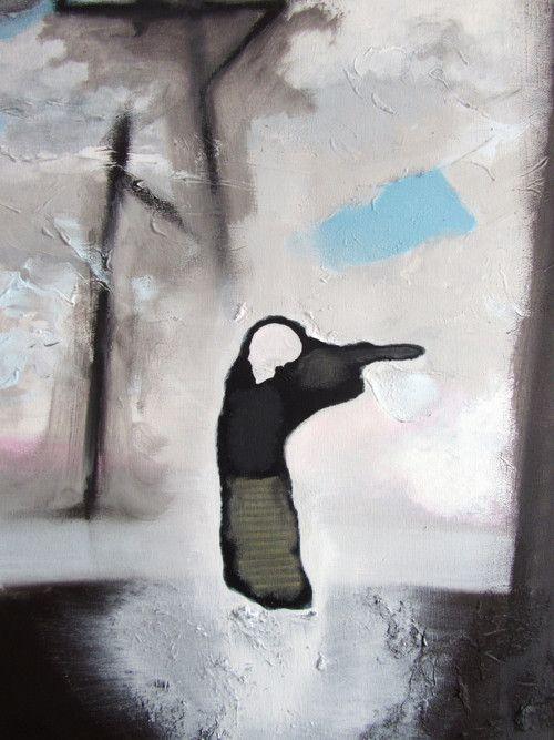 Setkání - malba na plátně