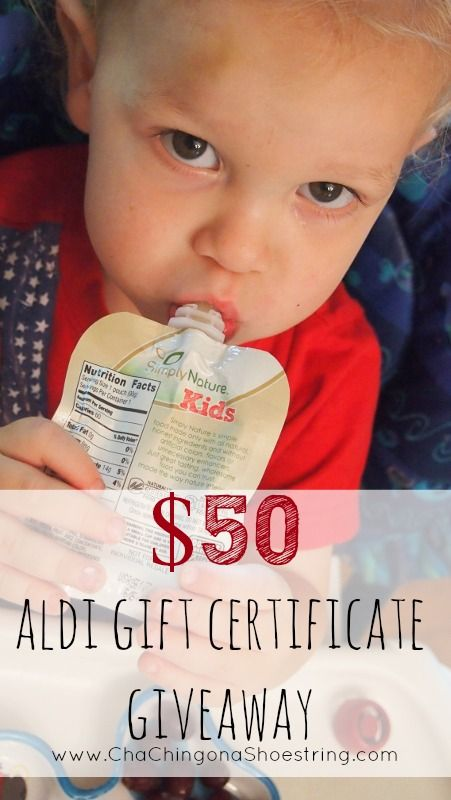 SimplyNature Squeezable Fruit Blends Review and $50 ALDI Gift Certificate Giveaway!