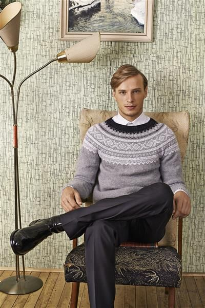 "Tema 39: Modell 10 ""Marius"" herregenser med rund sal #norsk #klassiker #strikk #knit"