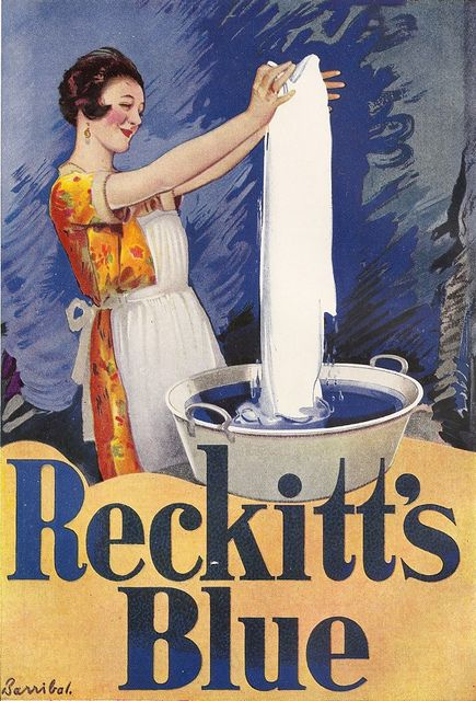 Vintage Ad - Reckitt's Blue poster, by Barribal, c1925
